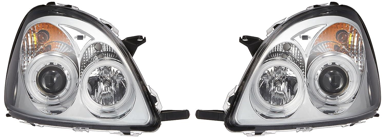 SONAR(ソナー) LEDヘッドライト 切れ 水漏れ1年間保証付! エンジェルアイ プロジェクター クローム インナー CCFLリング採用 10系 ヴィッツ 前期 B00EY6WQRQ