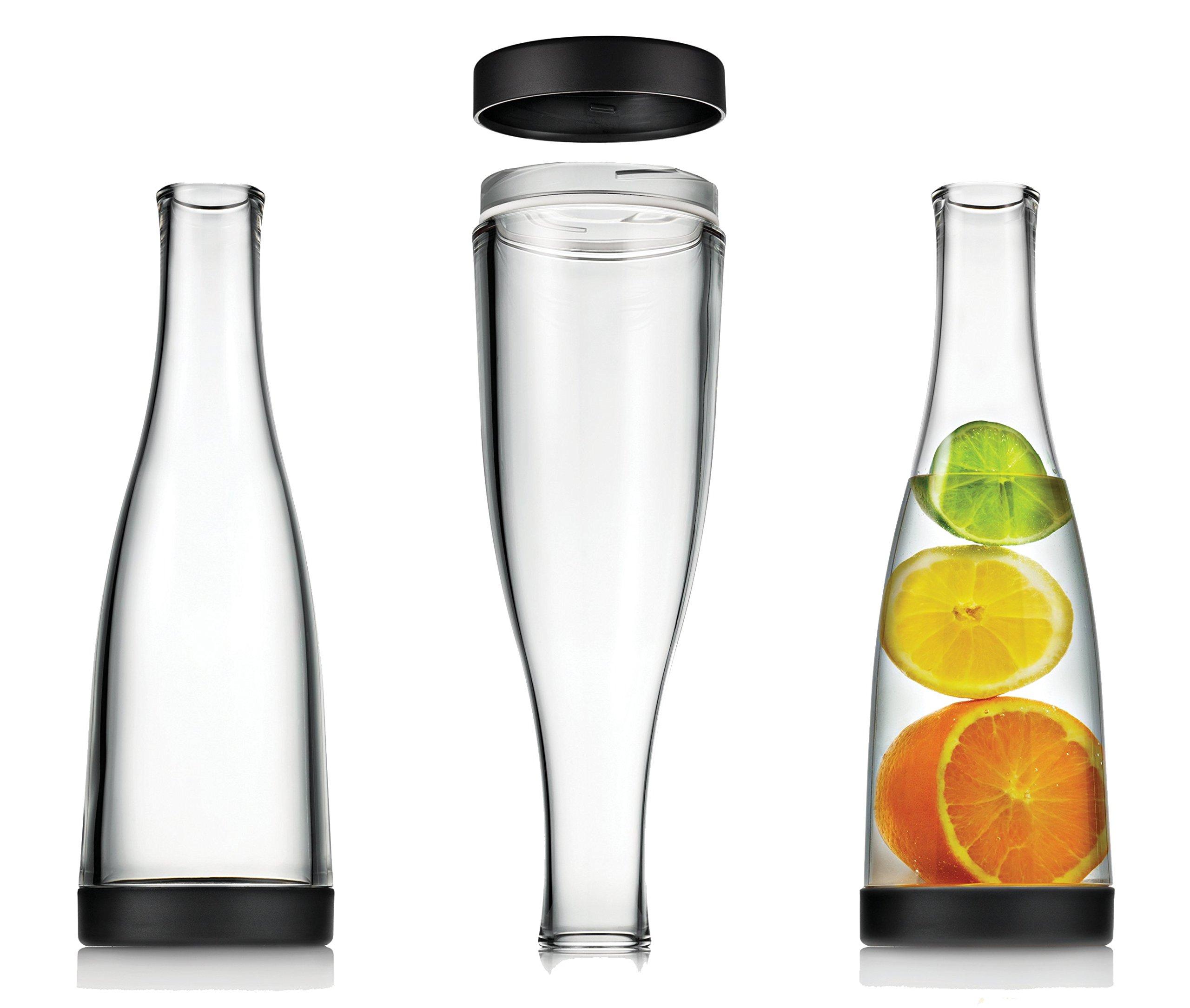 Drinique SRV-CA-CLR-12 Beverage Service Easy Clean Carafe Decanter, 32 oz (Case of 12), Clear