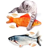 Flippity Fish Cat Toy, Interactive Cat Toy, Realistic Floppy Fish Cat Toy, Catnip Cat Toys, Automatic Cat Toy for Indoor…
