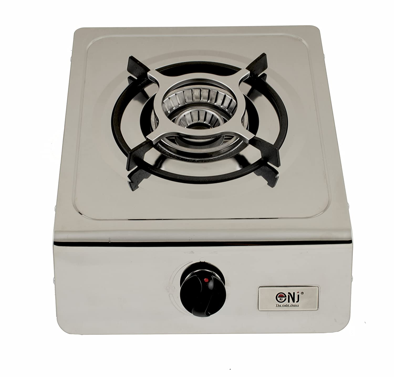nj-100fornello a gas da campeggio singolo bruciatore portatile portatile in acciaio INOX GPL 4.0KW Fontron LTD