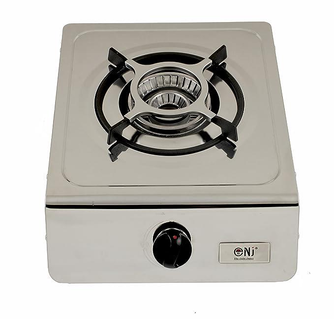 nj-100sd quemador de gas estufa única portátil acero inoxidable catering 4.0 kW interior: Amazon.es: Jardín
