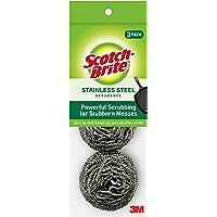 Scotch-Brite 214C Metallic Spiral, Silver, Pack of 3