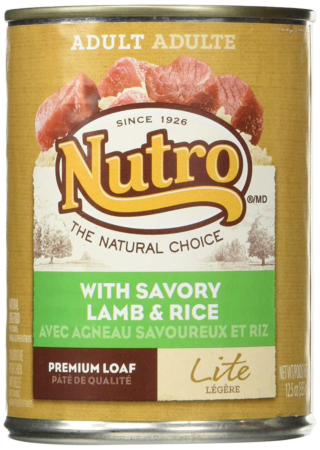 Nutro 50411573 Lite With Savory Lamb Rice Can Dog Food, 12 Ea 12.5Oz