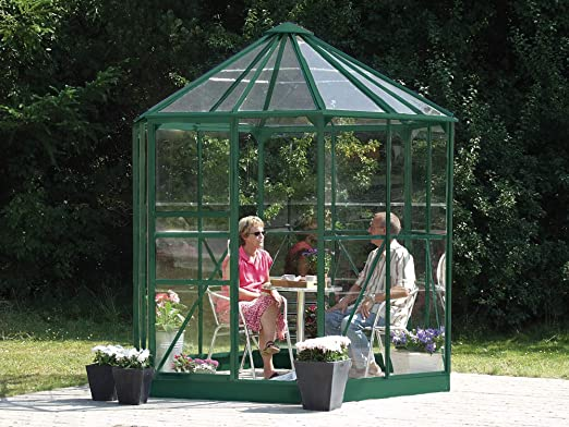 lams - Jardín de Invierno de Cristal Hera 4,50 m2 + Base, Color Verde: Amazon.es: Hogar