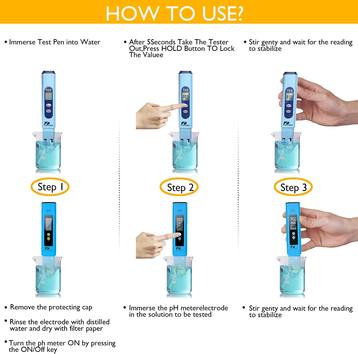 Pancellent 0.01 pH Resolution Digital Ph Meter