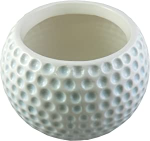 Accents & Occasions Ceramic Golf Ball Planter or Flower Arrangement Vase, 3-3/4-Inch
