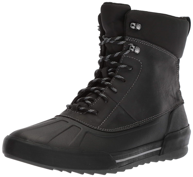 Black Leather Clarks Mens Bowman Peak Ankle Boot
