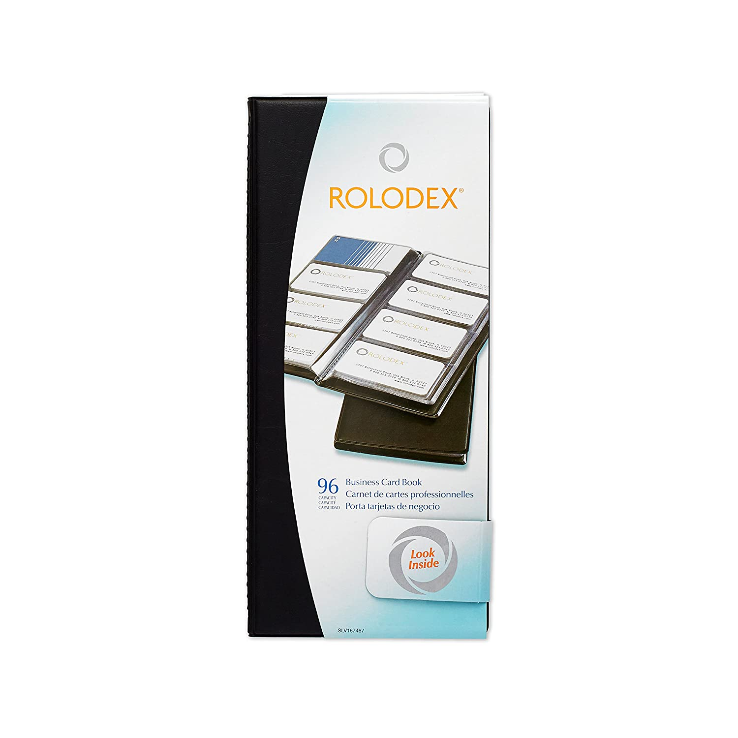 rolodex vinyl business card book with a z tabs holds