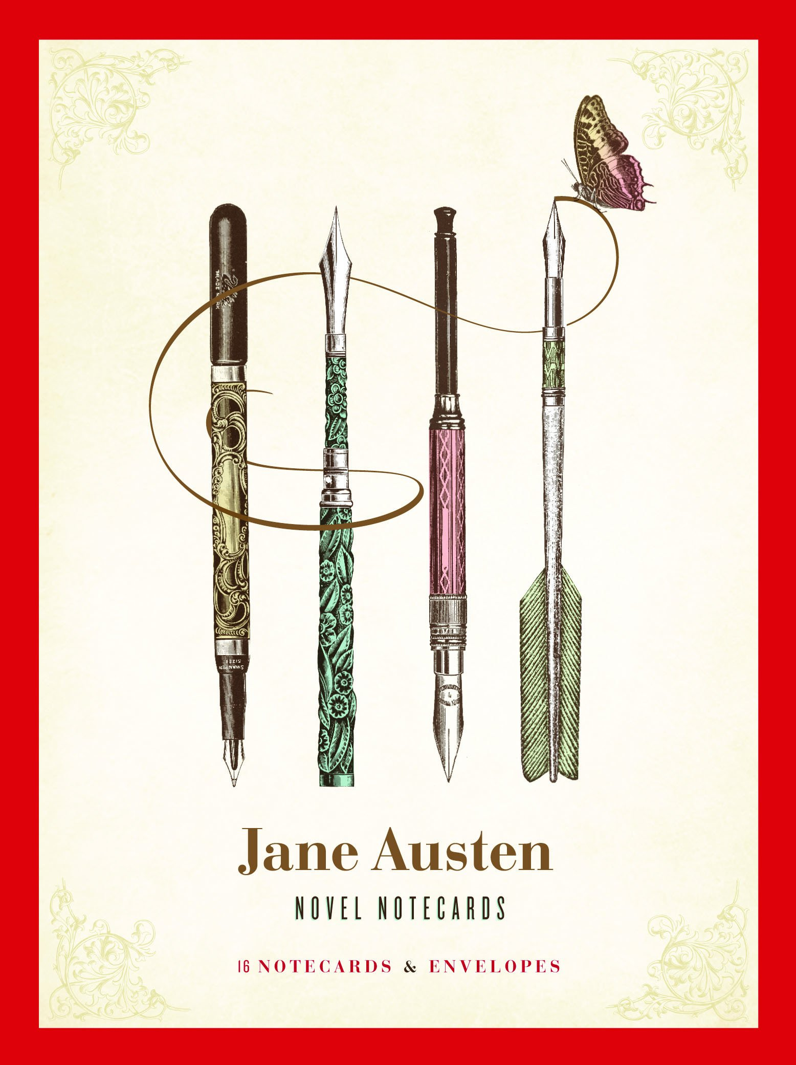 Jane Austen Novel Notecards: 16 Notecards and Envelopes ...