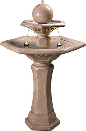Kenroy Home 51032SNDST Riviera Fountains, 56 Inch Height, Sandstone Finish