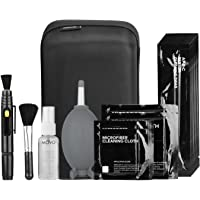 Movo Deluxe Essentials DSLR Camera Cleaning Kit with 10 APS-C Cleaning Swabs, Sensor Cleaning Fluid, Rocket Air Blower…