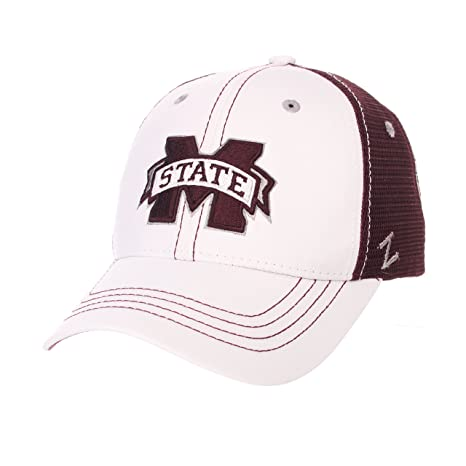 0d545ae1a2e Image Unavailable. Image not available for. Color  Zephyr Men s Mississippi  State Bulldogs WHITEBOARD Adjustable HAT