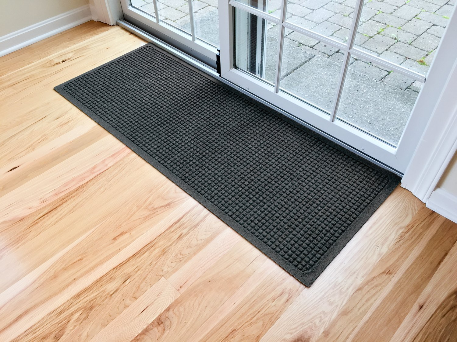 Hudson Exchange 4204 Waterhog Fashion Floor Mat Runner, 60'' L x 22'' W, 3/8'' Thick Charcoal