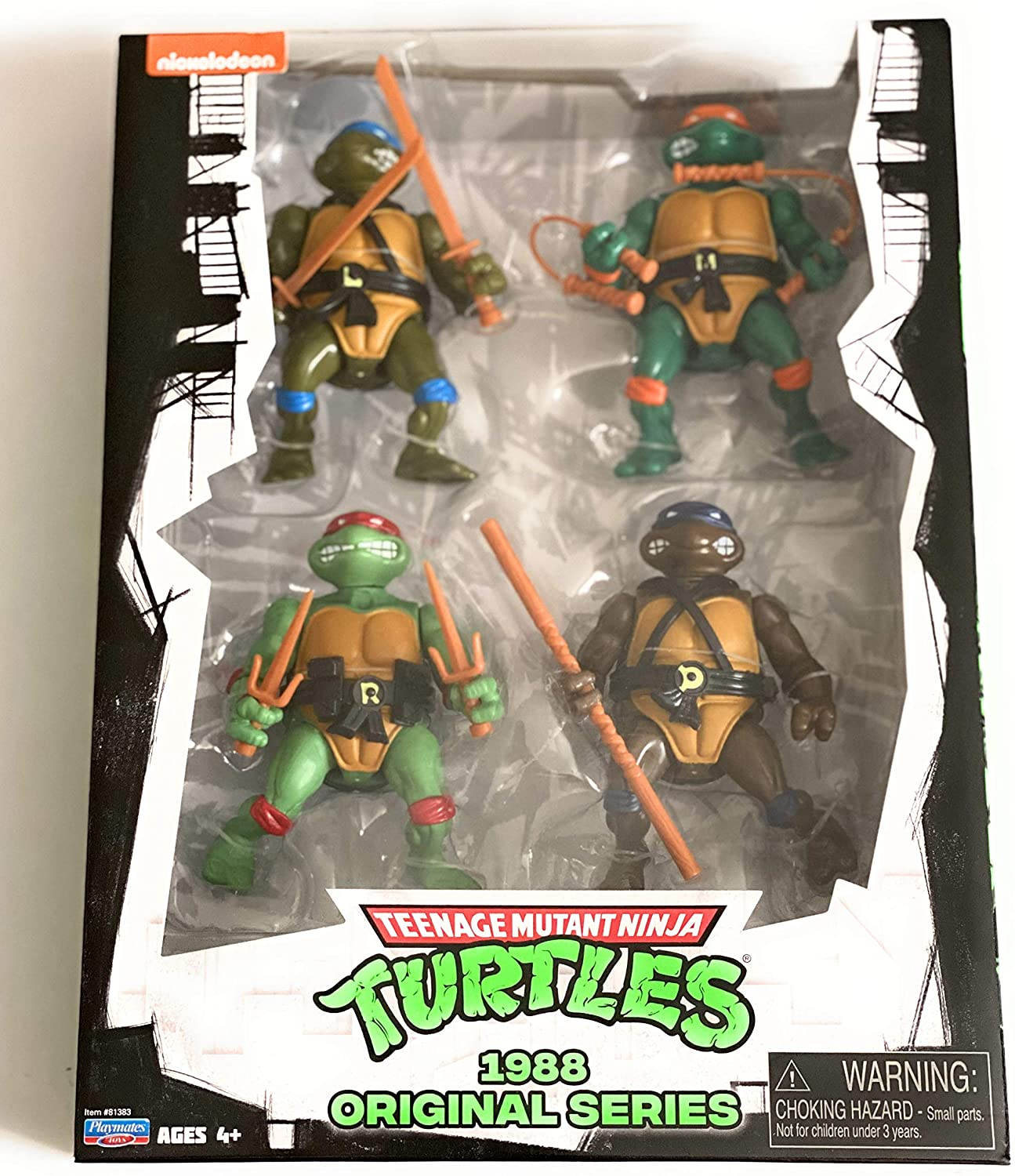 Teenage Mutant Ninja Turtles Classic 1988 Original Series 4 Pack