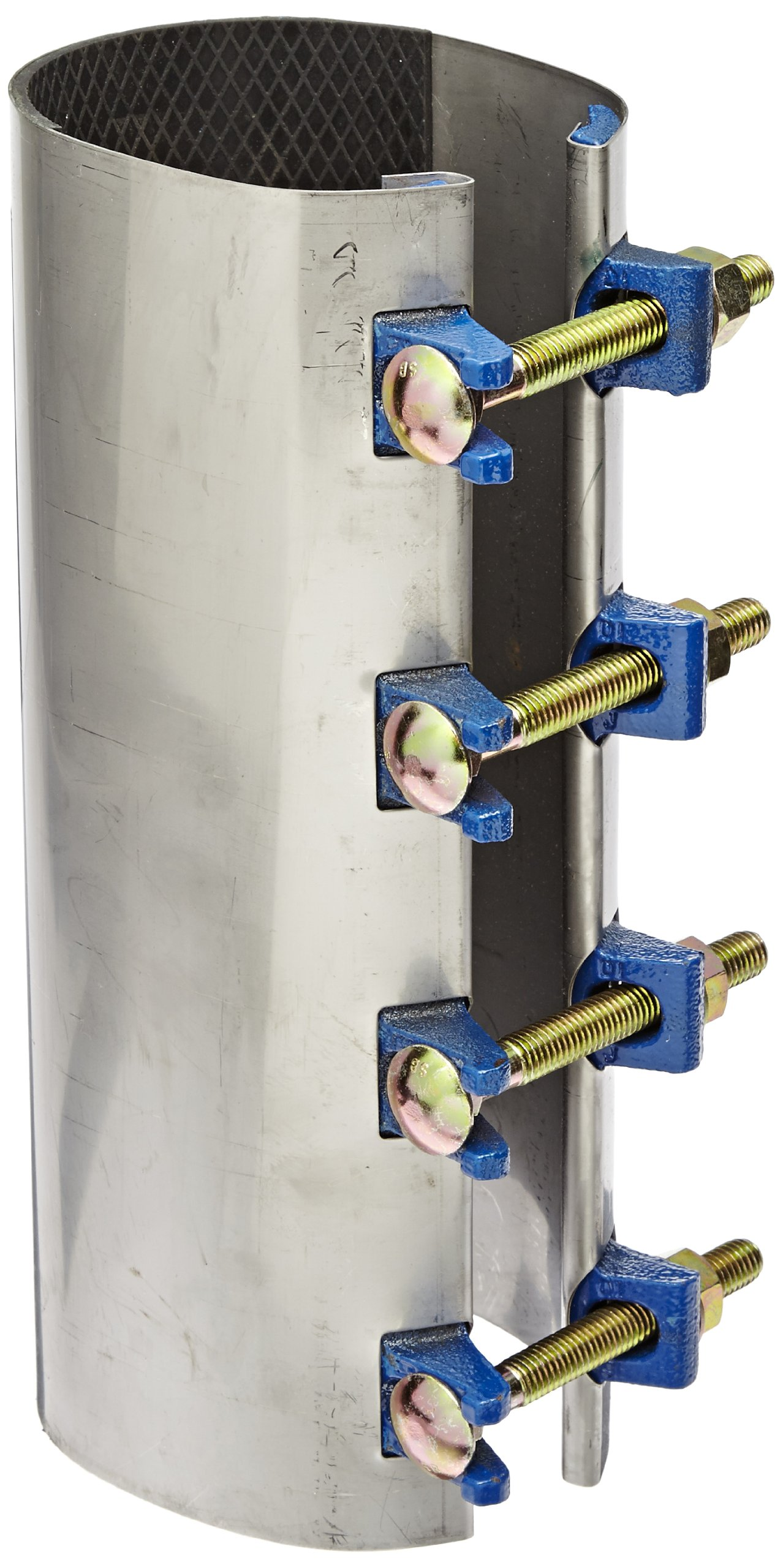 Smith-Blair Stainless Steel Repair Clamp, Redi-Clamp, Carbon Steel Bolt, 4 Bolts, 12'' Length, 4'' Pipe Size