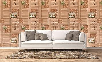 Konark Designer Wallpapers 3d Pattern Decorative Vinyl Wallpaper Standard