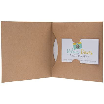 Amazon paper cd or dvd and business card holder sleeve 100 paper cd or dvd and business card holder sleeve 100 pack kraft colourmoves