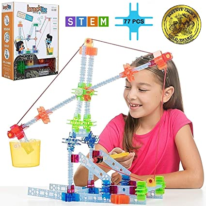 Brackitz Pulley Set for Kids | Building Toy for Boys and Girls Ages 5, 6, 7  and 8 Years Old | STEM Discovery Learning Kit | Best Children Educational