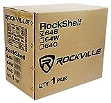 """Pair Rockville RockShelf 64B Black 6.5"""" Home"""