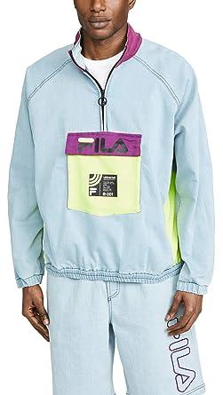 dc7b74493dc6 Fila Men's Doug Half Zip Track Top, Denim, X-Large at Amazon Men's ...