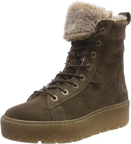 Tamaris Damen Boots grün oliv 39 Schurwolle Leder