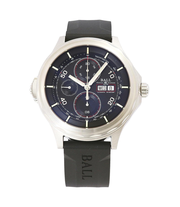 [ボールウォッチ]BALL WATCH 腕時計 スライドクロノグラフ クロノグラフ ラバーベルト 自動巻 ブラック文字盤 50m防水 CM3888D-P1J-BK メンズ 【並行輸入品】 B01M8JJ4RV