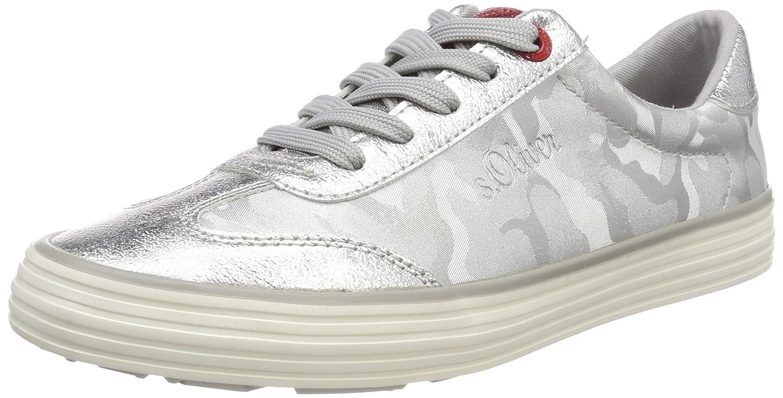 s.Oliver 23646, Zapatillas para Mujer 36 EU Plateado (Silver)