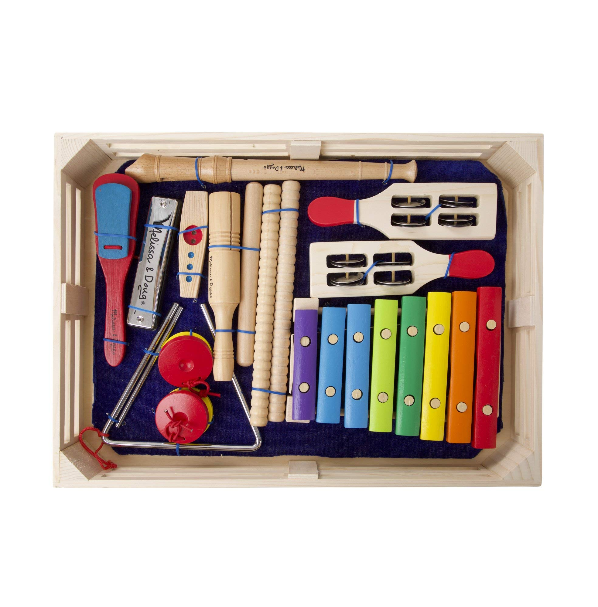 Melissa & Doug Deluxe Band Set With Wooden Musical Instruments and Storage Case by Melissa & Doug