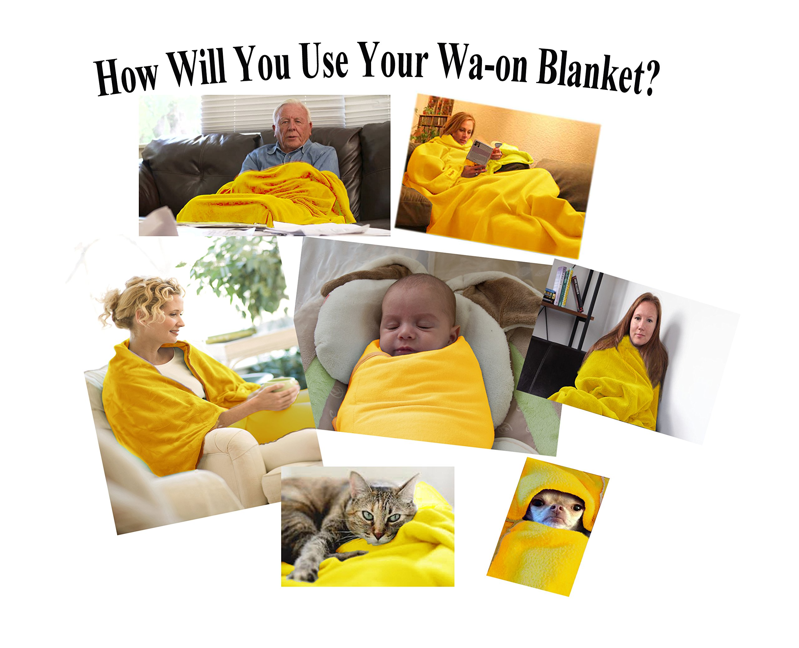 """Far Infrared Wa-on Ceramic Blanket, King size 82""""X82"""" Reflective Far Infrared Blanket. Soft & Plush by Crystal Rays."""