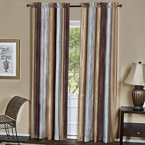 Achim Home Furnishings Ombre Window Panel, 50-Inch by 84-Inch, Chocolate Set of 2