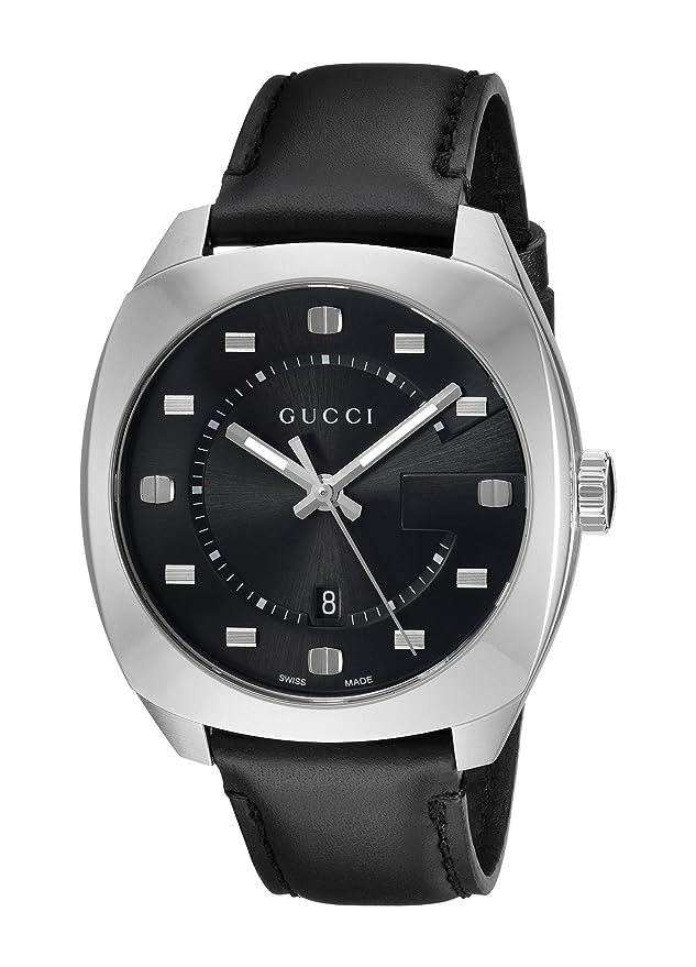 984f84f136f Amazon.com  Gucci Swiss Quartz Stainless Steel and Leather Dress Black  Men s Watch(Model  YA142307)  Watches
