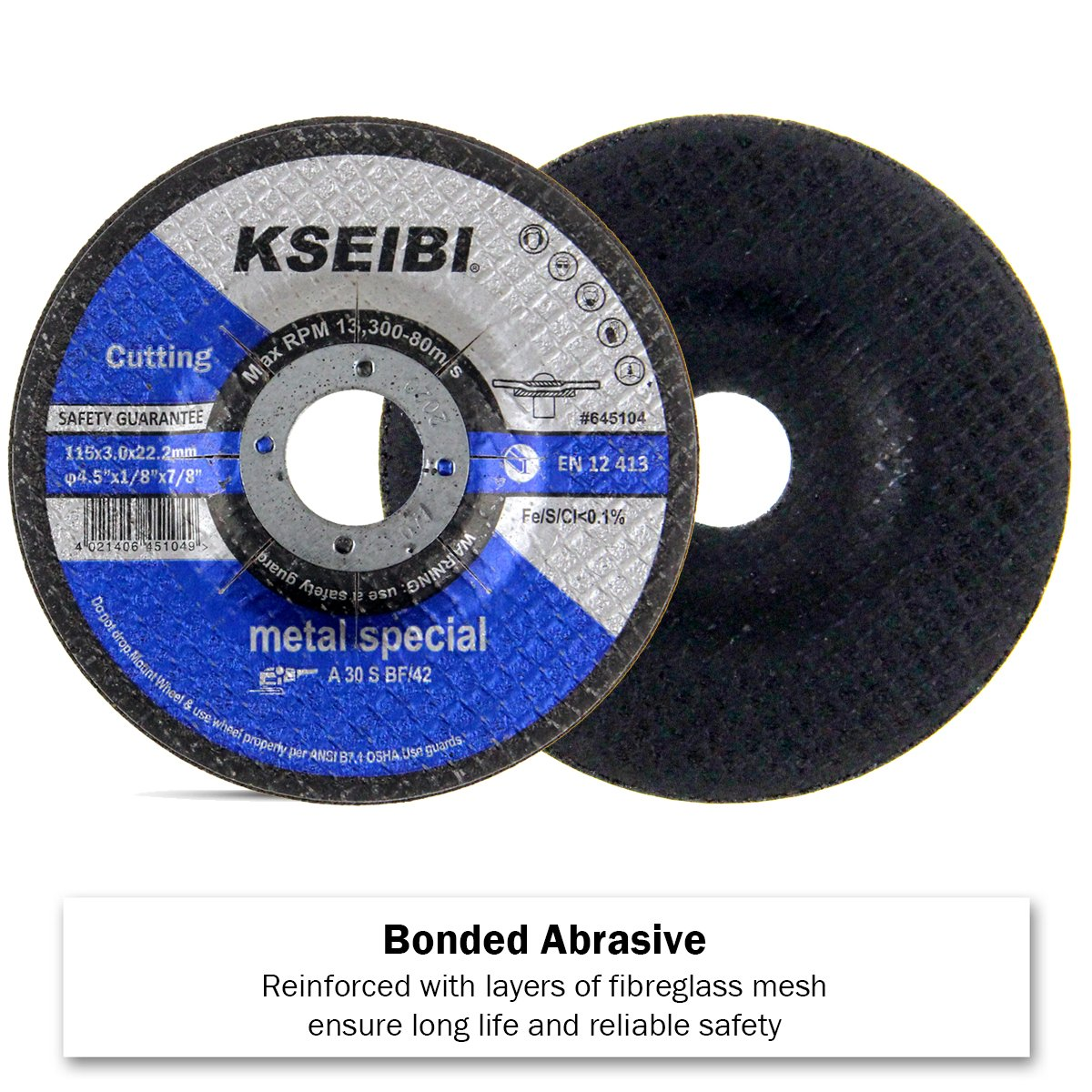 7//8-Inch Arbor 20-Pack KSEIBI 645104 4-1//2-Inch by 1//8-Inch Metal Cutting and Grinding Disc Depressed Center Cut Off Grind Wheel