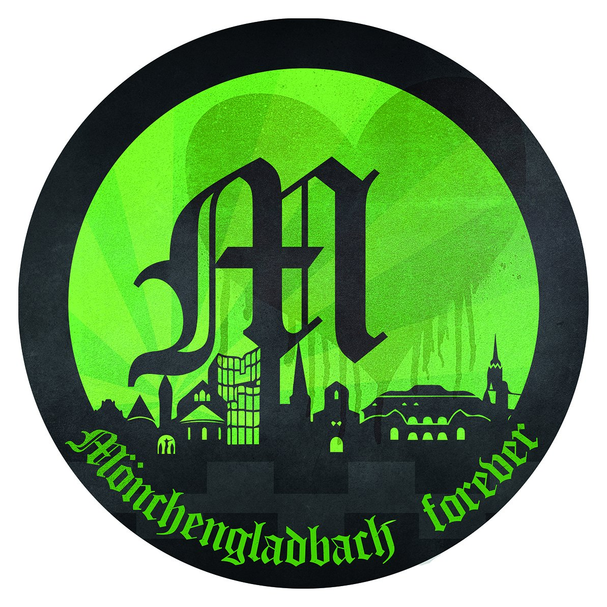 Flaschentr/äger Borussia M/önchengladbach Leistungstr/äger Einkaufsbeutel plus gratis Aufkleber forever M/önchengladbach Einkaufstasche BMG