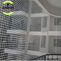 ARMOR Anti-Bird Net UV-Stabilized HDPE Multi-Filament Netting Solution Comes with Nylon Cable Ties & Tying Ropes (White)