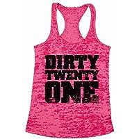 Awkward Styles Women's Dirty Twenty One Graphic Burnout Racerback Tank Tops 21st...