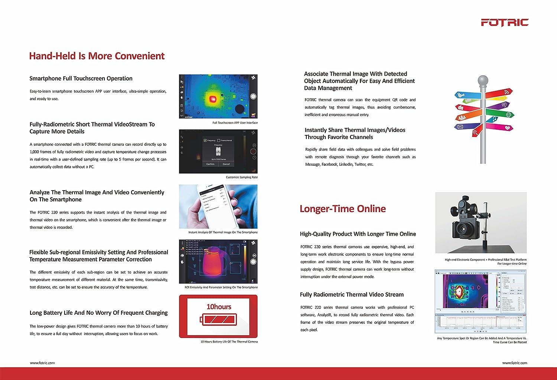 Amazon.com: FOTRIC 225 Pro. Thermal Camera | 320x240 IR Resolution ...