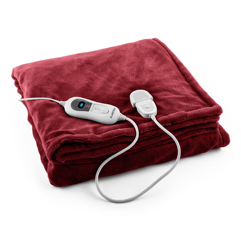 Klarstein Dr Watson Comfort /& Style /• elektrische Heizdecke /• Kuscheldecke /• W/ärmedecke /• 120 Watt /• 180 x 130 cm /• Faux Fur /• waschmaschinengeeignet /• Abschalt-Timer /• 6 Leistungsstufen /• beige