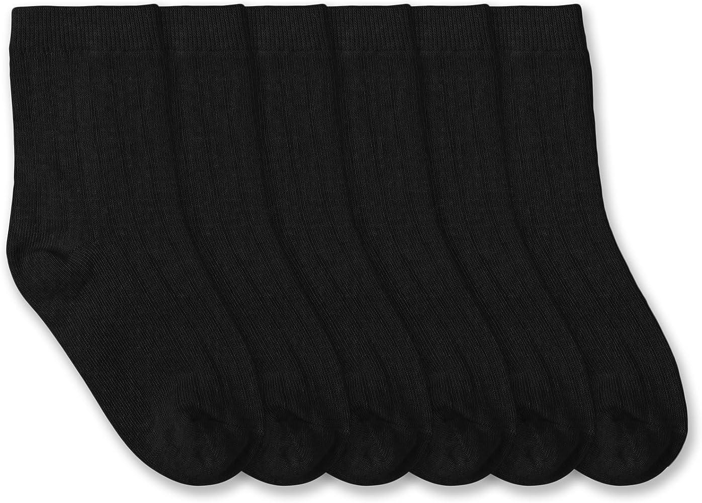 e771ebb4f027f Jefferies Socks Boys School Uniform Rib Crew Socks 6 Pair Pack (Toddler -  USA Shoe