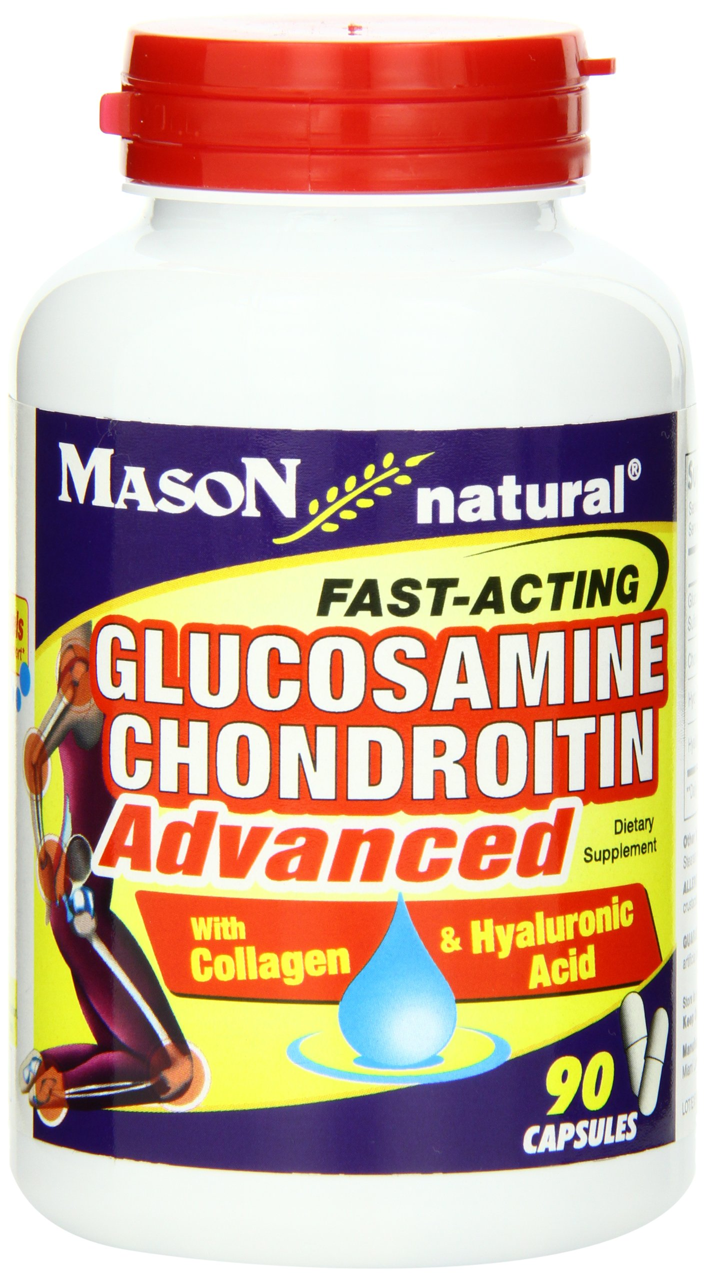 Mason Natural, Glucosamine Chondroitin, 90 Capsules, Dietary Supplement Supports Joint, Bone, and Cartilage Health, Promotes Flexibility and Helps Provide Pain Relief for Stiff Joints