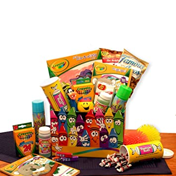 Amazon Com Holiday Creative Kids Activity And Snacks Gift Basket