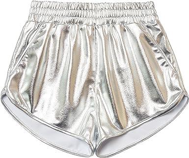 metallic shorts amazon