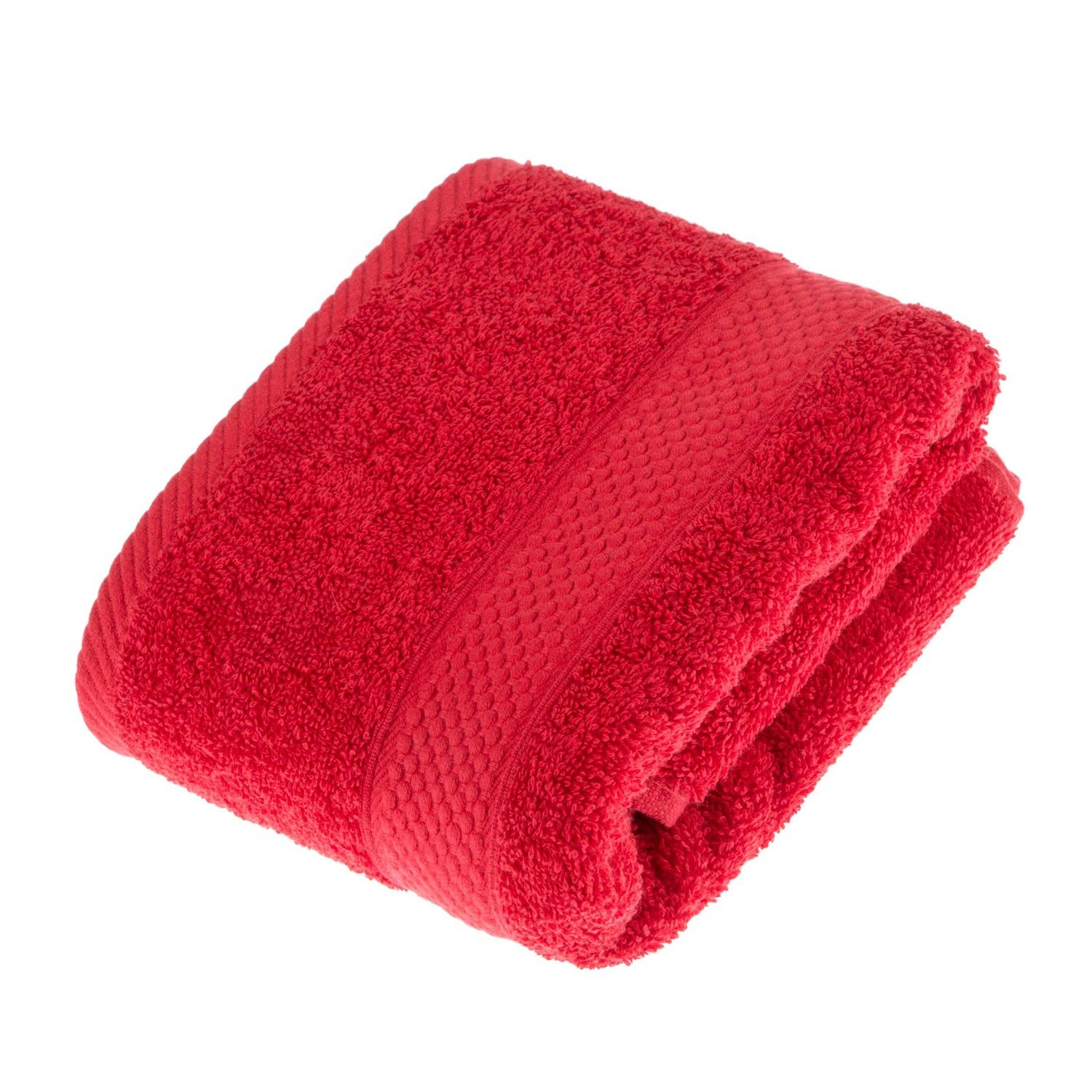 Homescapes Turkish Cotton Hand Towel Red Very Soft and Absorbent, 500 GSM Heavy Weight for everyday Luxury by Homescapes