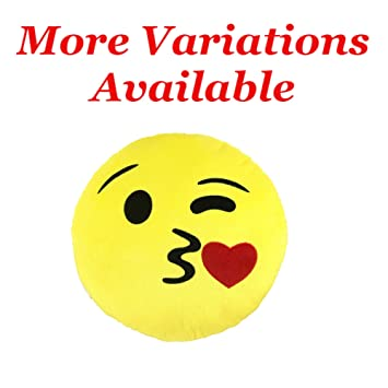 Emoji Kiss Pillow 9"