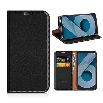 MOBESV Funda Cartera LG Q6, Funda Cuero Movil LG Q6 Carcasa Case con Billetera/Soporte para LG Q6 - Negro
