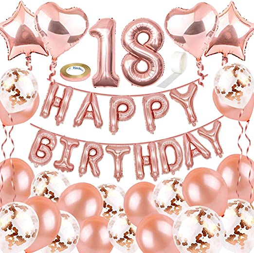 Geburtstag Deko Set Folien Luftballons 30 Deckenhänger Girlande Konfetti 30