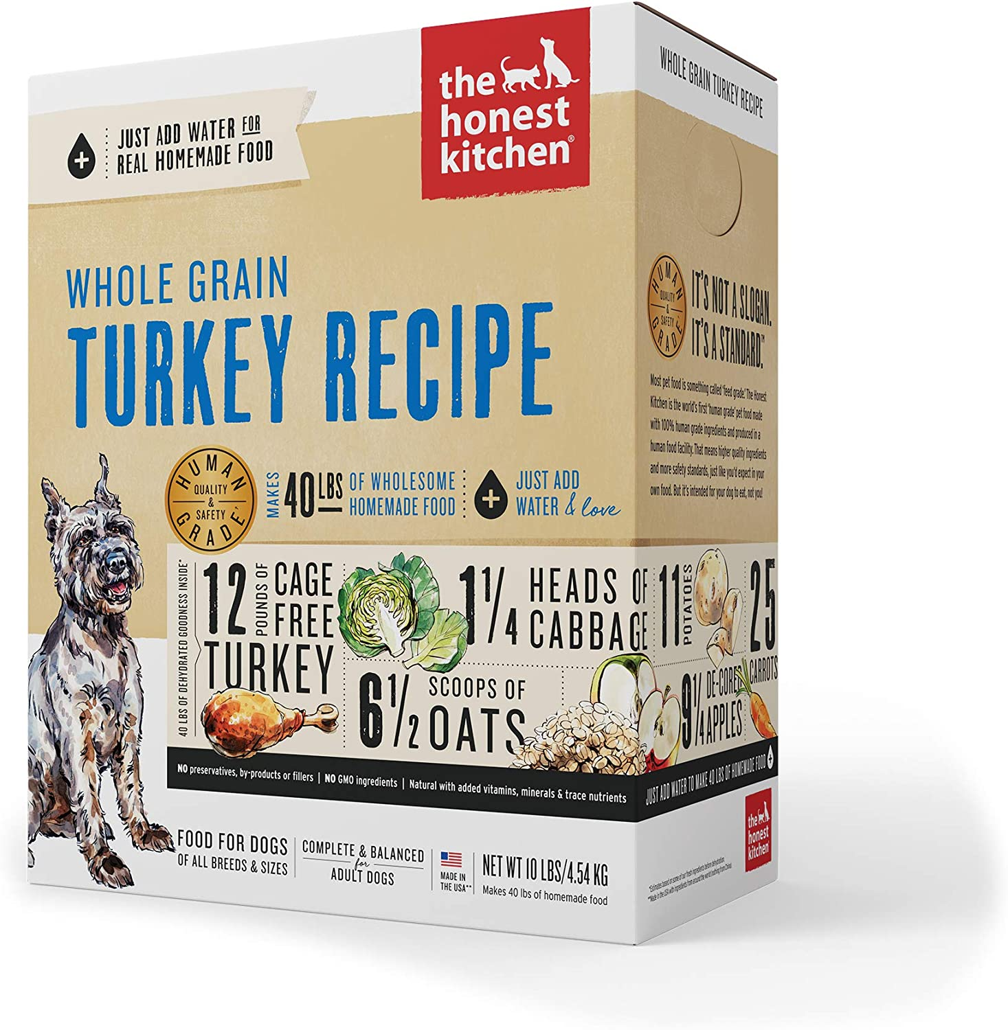 6. The Honest Kitchen Whole Grain Turkey Recipe Dehydrated Dog Food
