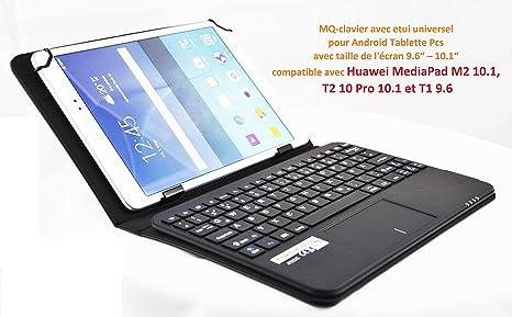 MQ para Huawei MediaPad 9.6 -10.1 – Funda con teclado y Touchpad integrado