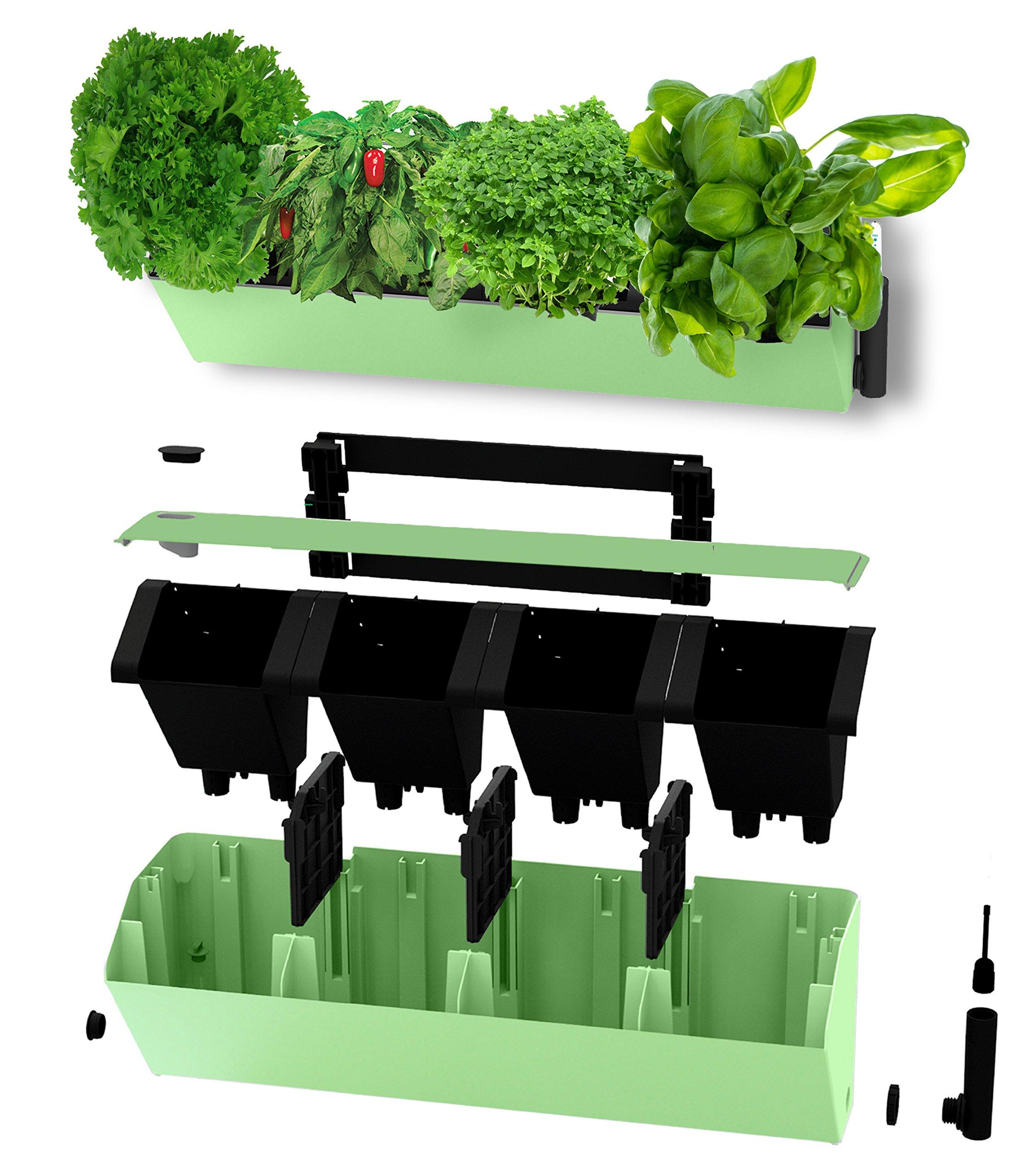 self watering planter for vertical gardens indoor outdoor wall decor gardening kit with - Indoor Vegetable Garden Kit