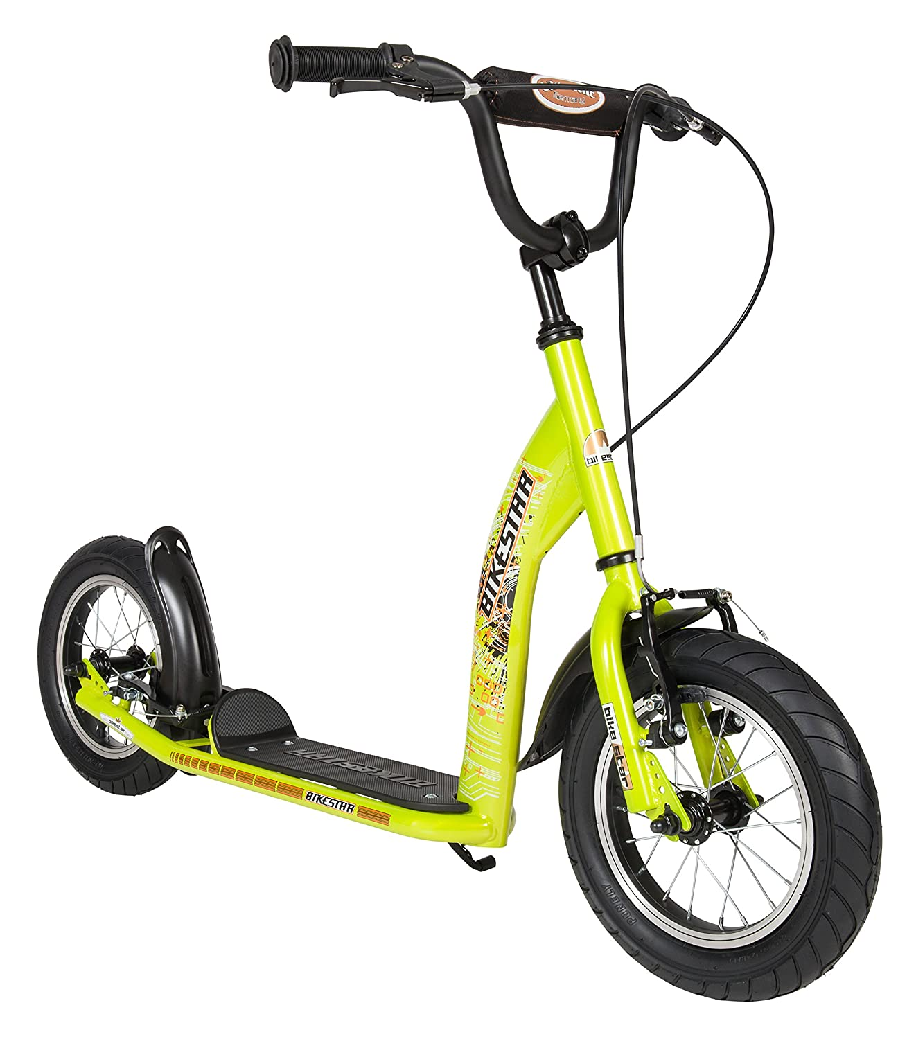 BIKESTAR� Original Safety Pro Sport Push Kick Scooter Kids with brakes, mudguard and air tires for age 7 year old children