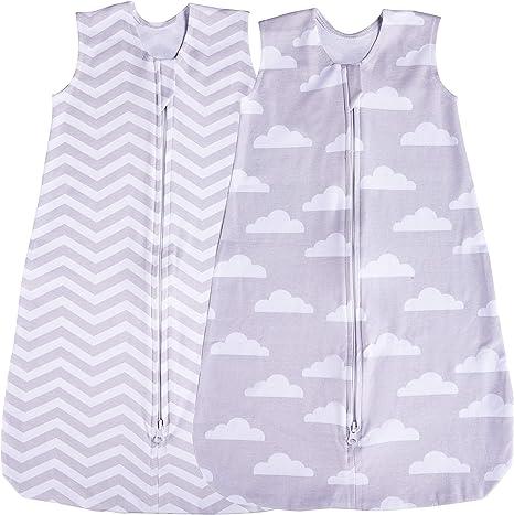 Saco de dormir para bebé, 2 unidades de manta, verano (nube/Chevron) (0-3 meses): Amazon.es: Hogar